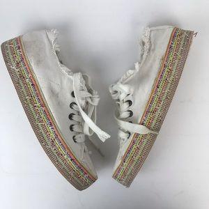 Rocket Dog Madox espadrille sneaker white platform
